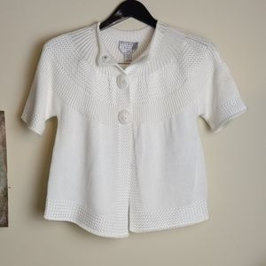 Talbots Short Sleeve Cardigan Size Petite Small